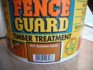 Fencing treatment at Oakwell Garden Products